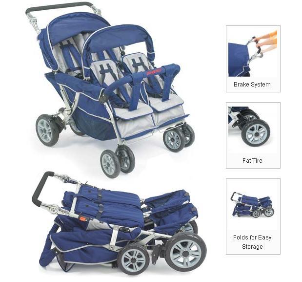 quad stroller  daycare stroller  triple stroller  gaggle  bye