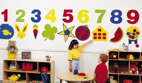 Daycare Decor Decorating Vinyly Wall Murals Acrylic